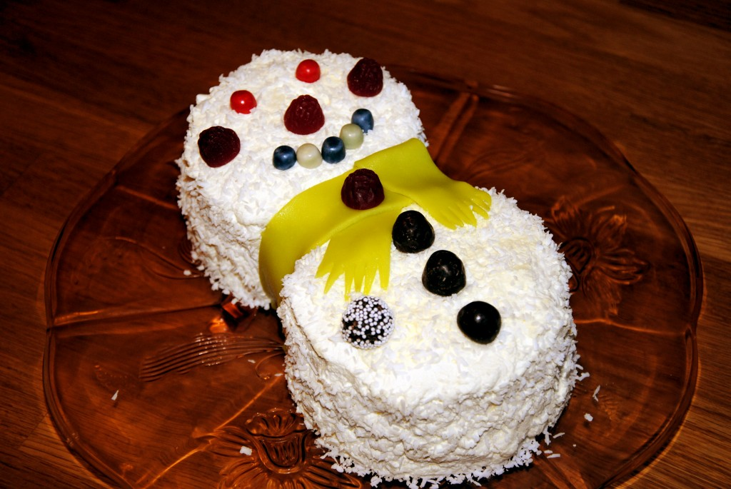 Kostekonom.se snögubbstårta