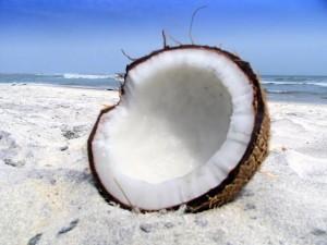 Kokosnöt, kokos, kokoskött