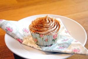 äppelcupecake med kanelfrosting