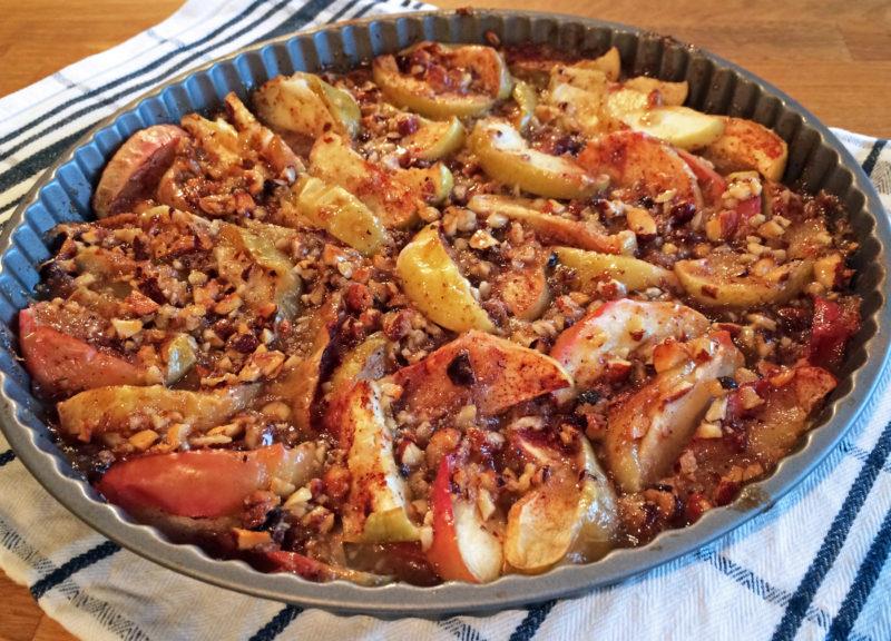 äppelpaj med nötter