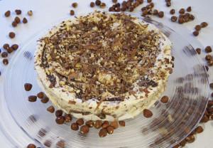 Semifreddo med rostade hasselnötter och Nutella