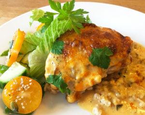 Tomat och curryöverbakad kyckling