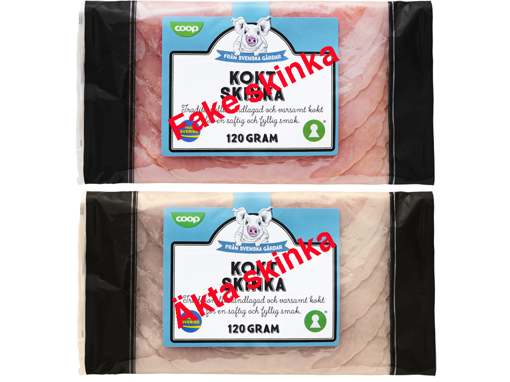 Vanlig och nitritfri skinka