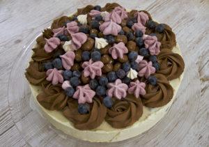Glasstårta med kinapuffar