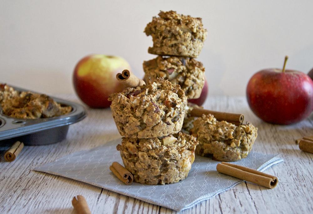 Havremuffins med äpple och kanel