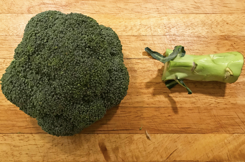 Halverad broccoli